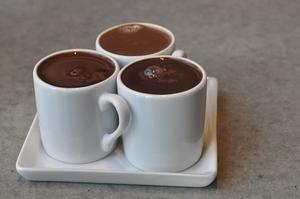 Three Mugs of Hot Chocolate on a Tray