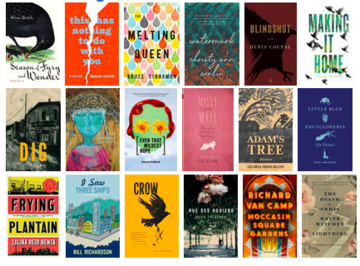 Covers of books celebrated this spring by regional awards