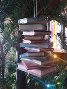 Christmas Tree Ornament of a Pile of Books