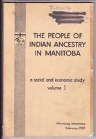 Book Cover A Study of the Population of Indian Ancestry Living In Manitoba