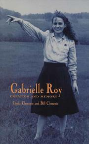 Book Cover Gabrielle Roy