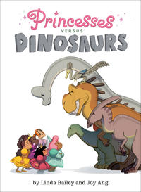 Book Cover Princesses Vs Dinosaurs