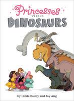 Book Cover Princesses Vs Dinosaurs