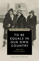 Book Cover to Be Equals in Our Own Country