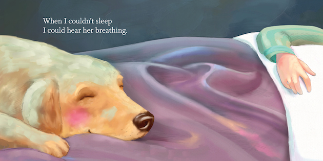 Illustration from The Dog, by Helen Mixter and Margarita Sada