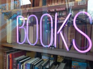 Neon Sign that says BOOKS