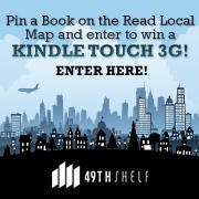 Pin a book on the Read Local map win a Kindle