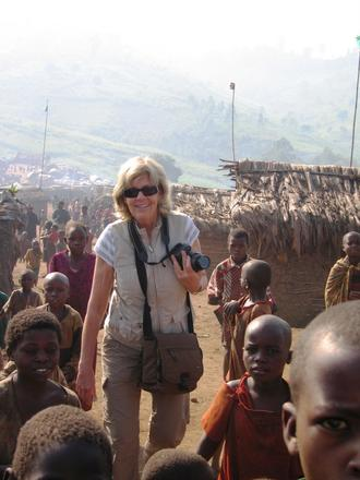 Sally Armstrong at Nyanzale Camp